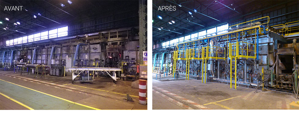 Revamping and capacity increase of an annealing line